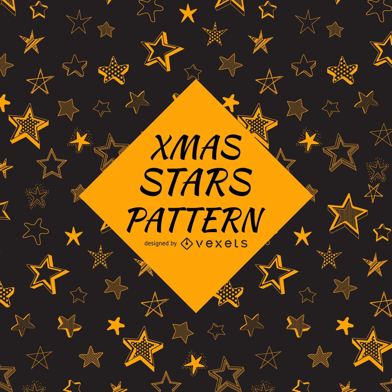Patrón de estrellas esbozado