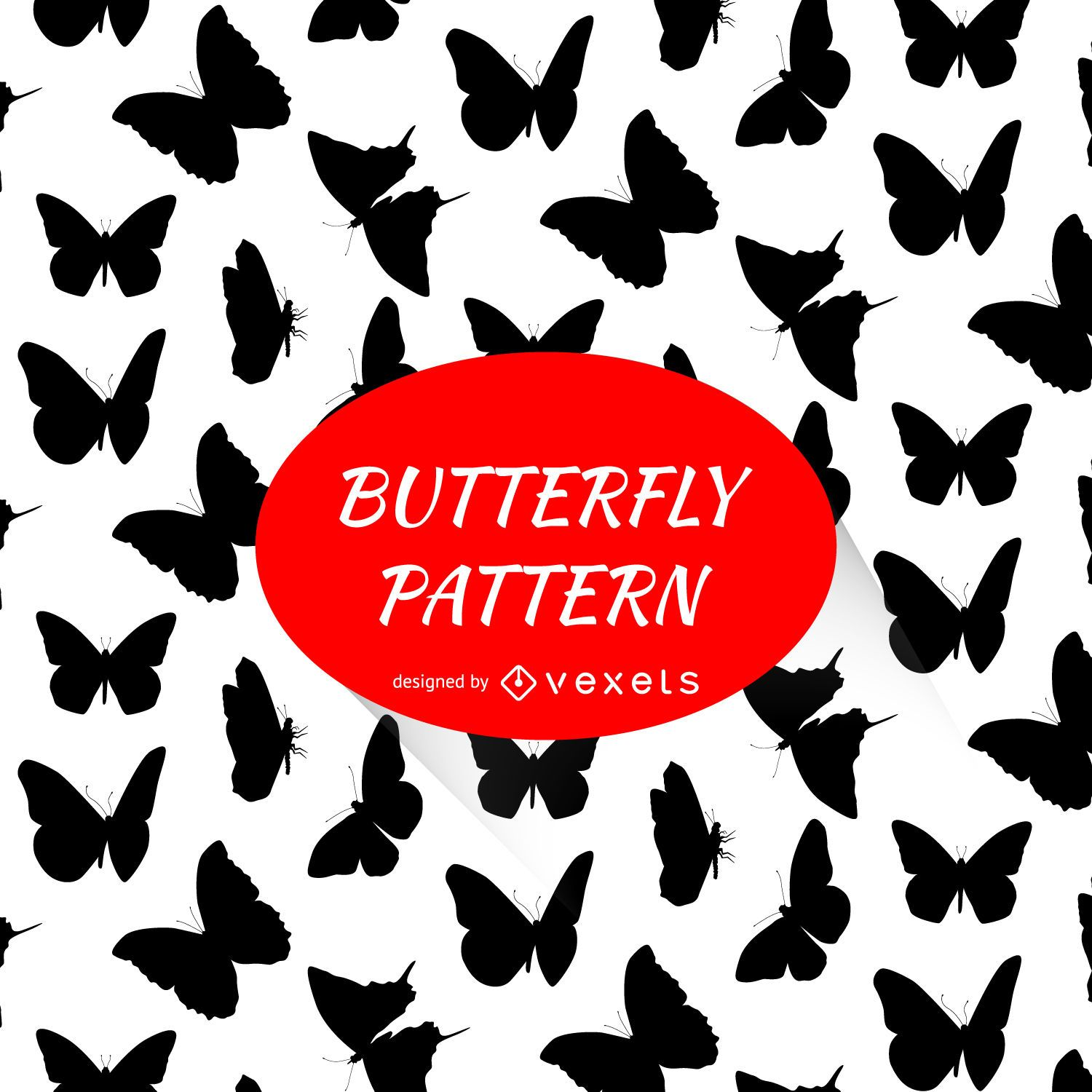 Butterfly silhouettes pattern