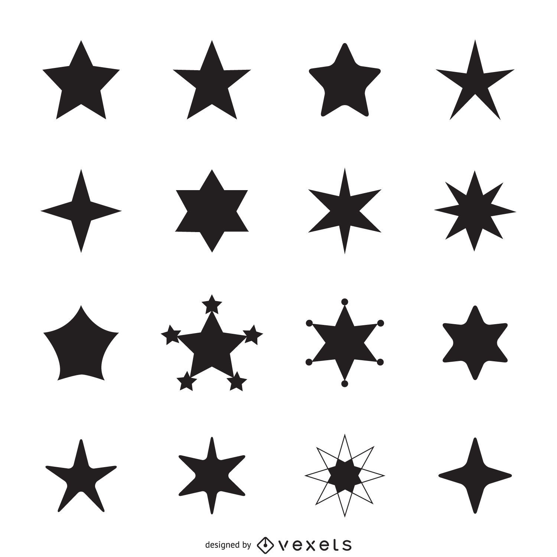 Einfache Sternikonen-Silhouetten