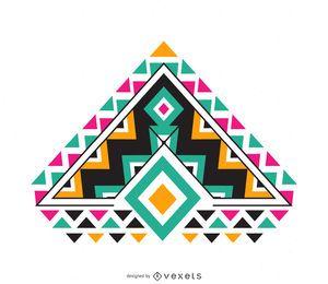 Ornamento colorido boho isolado