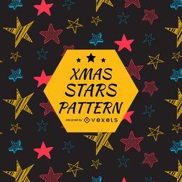 Padrão de estrelas brilhantes