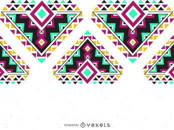 Colorful ethnic pattern border