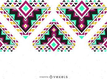 Colorful ethnic pattern border