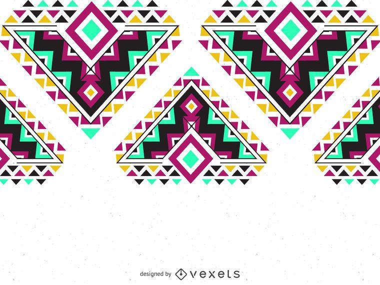 frontera patrón de colores étnicos
