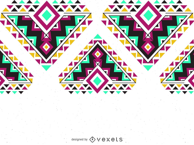 Frontera de patrón étnico colorido