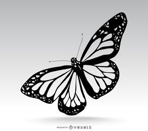 Ilustração de borboleta isolada