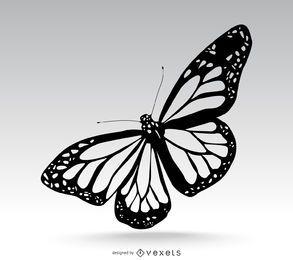 Ilustración de mariposa aislada
