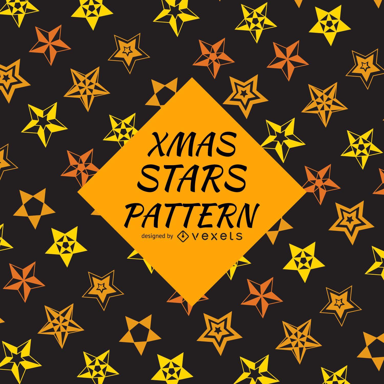 Fondo de patrón de estrella naranja amarillo