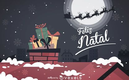 Flat Feliz Natal design