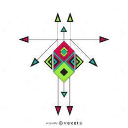 Boho diseño del ornamento étnico