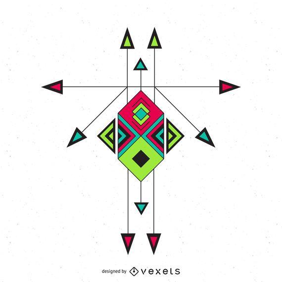 Boho ethnic ornament design