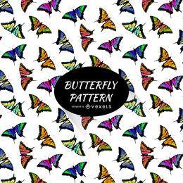 Fundo de padrão de borboleta colorida