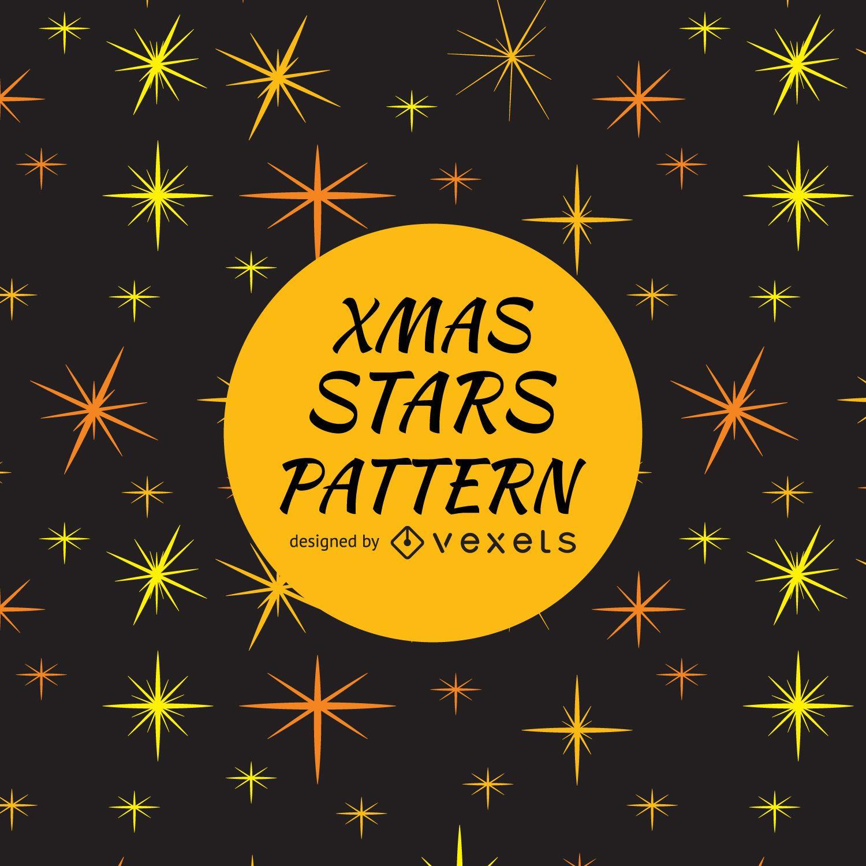Fondo de patrón de destellos de estrellas