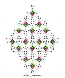 Diseño del extracto del boho étnico