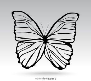 Ilustração simples de borboleta