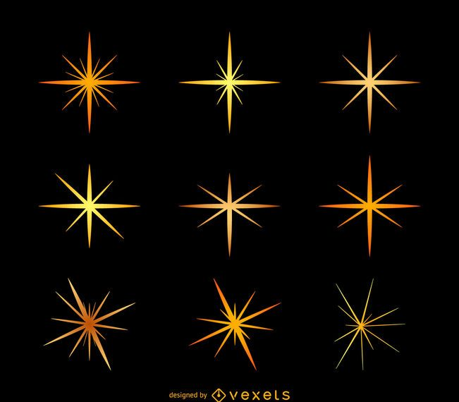 Star sparkles illustration set