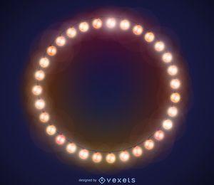 Marco de las luces de Navidad