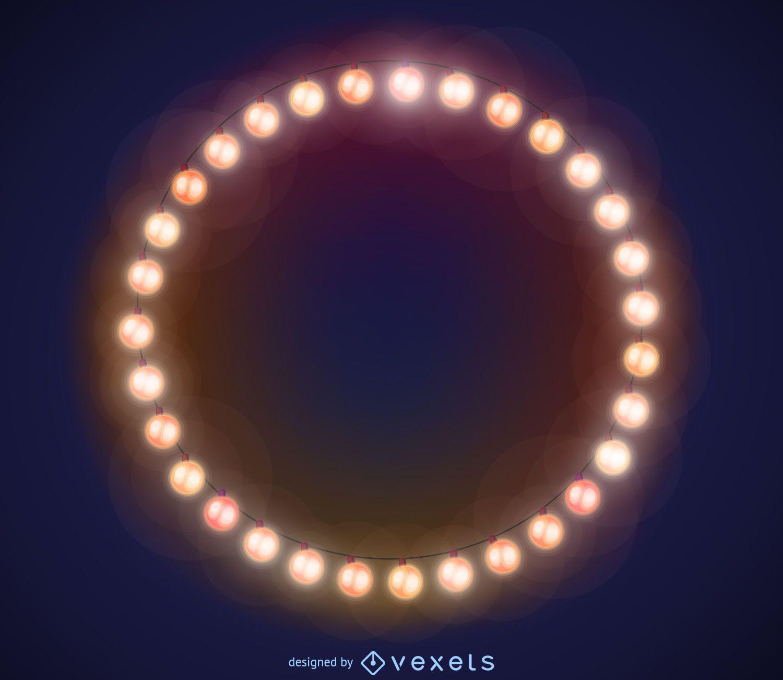Marco de las luces de Navidad - Descargar vector