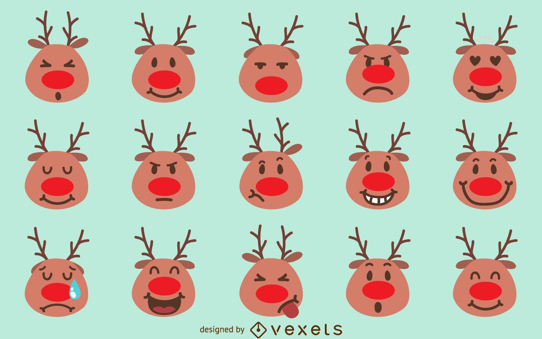 Christmas Reindeer emoji pack