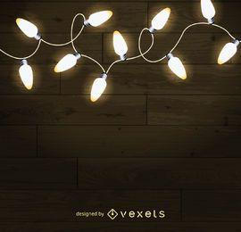 Las luces de Navidad de fondo