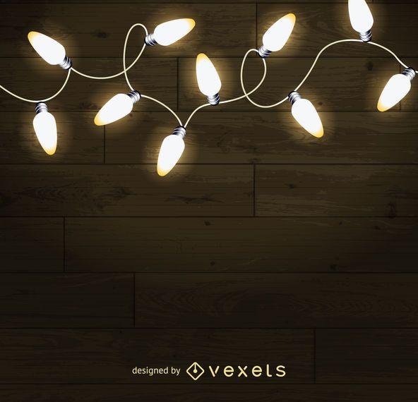 Las luces de navidad de fondo descargar vector - Luces para navidad ...