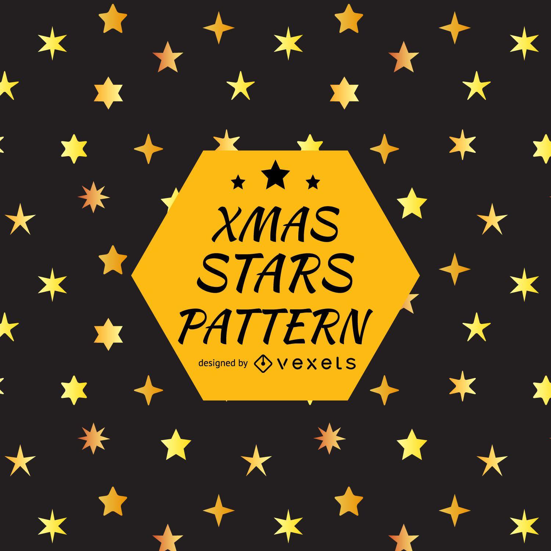 Desenho de padrão de silhueta de estrela