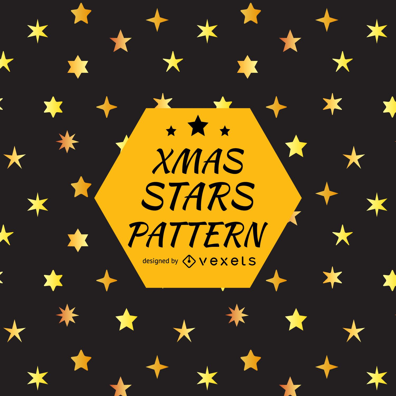 Diseño de patrón de silueta de estrella