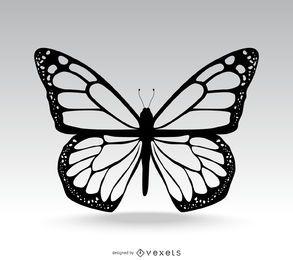 Ilustración clásica de mariposa aislada