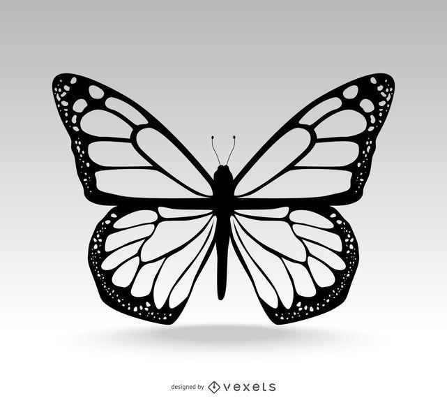 Ilustração de borboleta isolada clássica