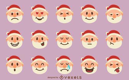 Conjunto de emoji de santa