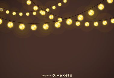 Guirnaldas de luces de Navidad de fondo