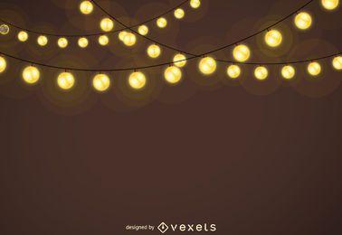 Weihnachtsbeleuchtung Girlanden Hintergrund