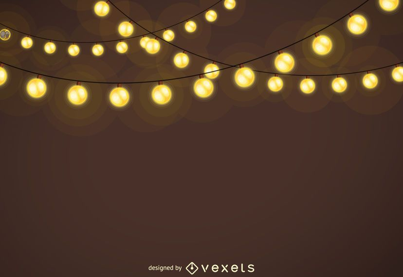 Fondo de guirnaldas de luces de Navidad