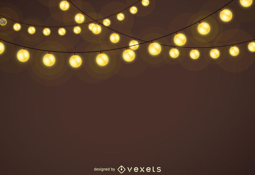 Guirnaldas de luces de navidad de fondo descargar vector - Lucecitas de navidad ...
