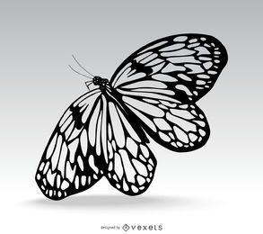 Hermosa mariposa aislado ilustración