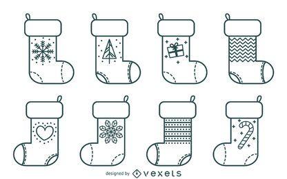 Flat Christmas stocking illustration