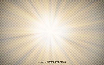 Transparente gelbe Sternexplosion