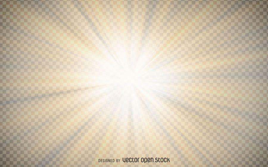 Starburst amarillo transparente PSD