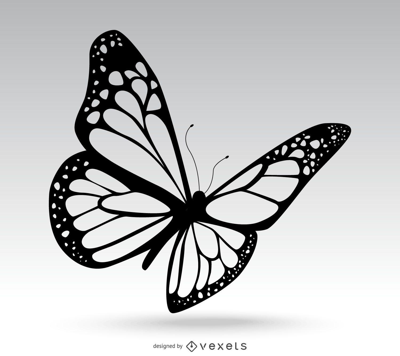 Desenho de borboleta isolado
