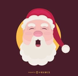 Flat Santa smiling illustration