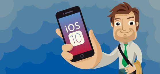 Encabezado de Apple iOS 10