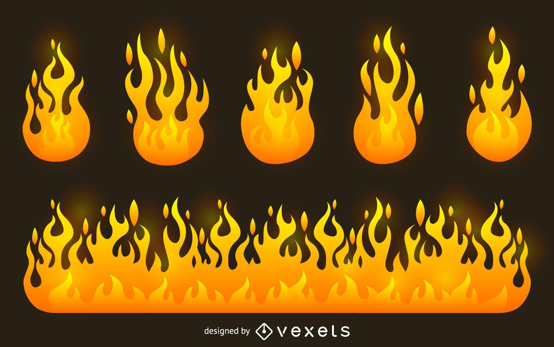 Vectores y gráficos de llama