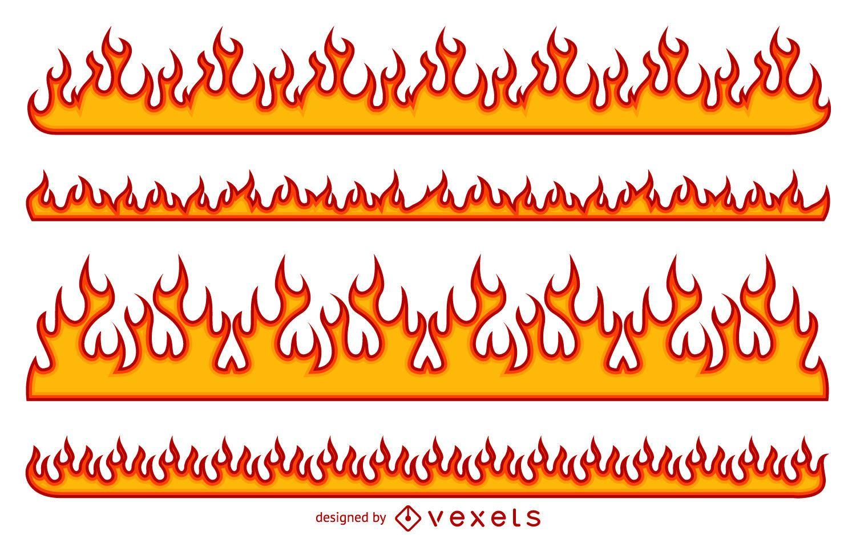 Картинка полоски в огне