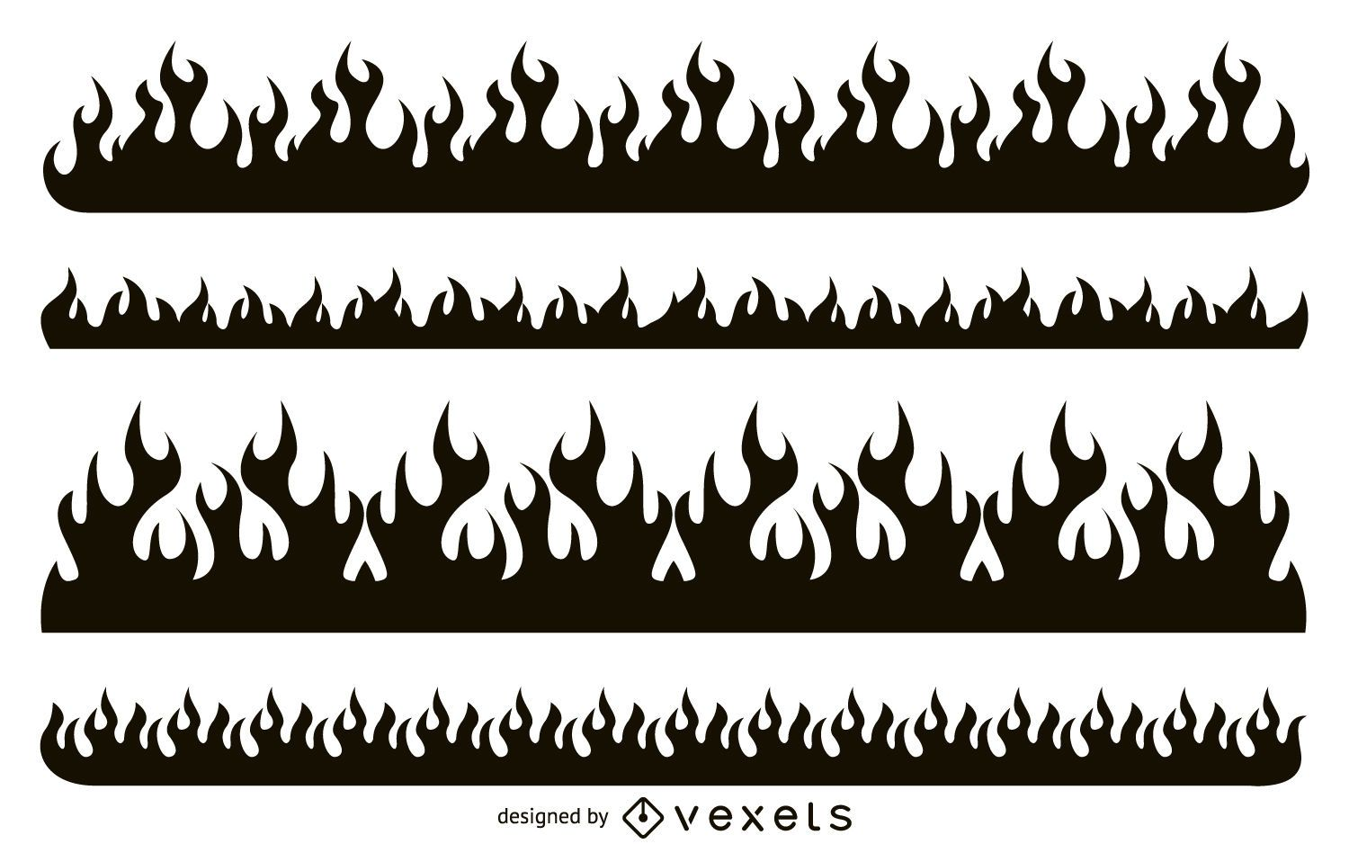 House Design Free Download Fire Silhouette Set Vector Download