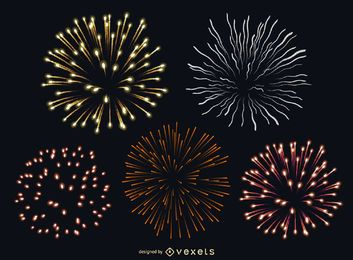 Isolated fireworks set