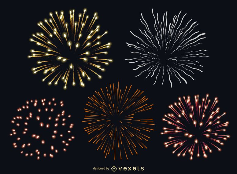 Isolated fireworks set