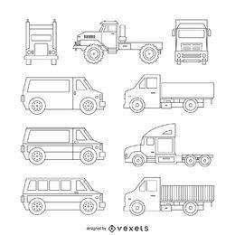 Coleção de ilustração de caminhão