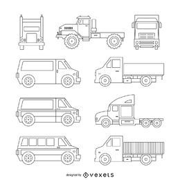 Truck illustration collection