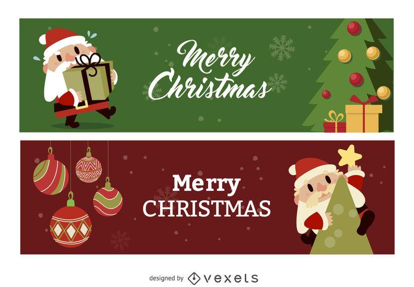 Banner plano de navidad