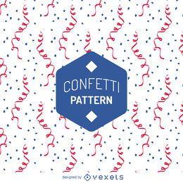 Flaches Konfetti-Muster